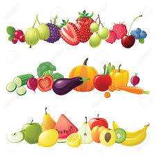 clipart fruits vegetables collection