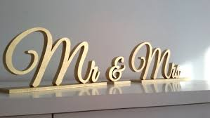mr mrs sign for wedding table mr mrs gold sign wedding table decor 2597738 weddbook
