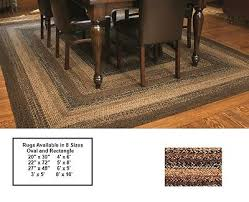oval braided rug black brown and tan primitive country cappuccino