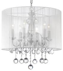 Double Drum Shade Chandelier Rectangular Drum Shade Chandeliers Houzz
