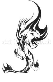 tribal stag tattoo tribal wolf tattoo wolf leap tribal swirl tattoo by