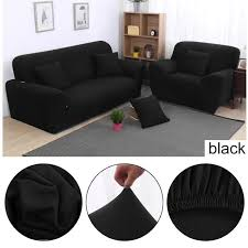 housse canapé noir housse de canapé 195 230cm 3 places noir clic extensible achat