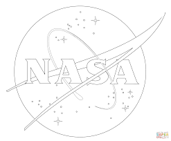 nasa logo coloring page free printable coloring pages