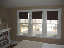White Wood Blinds Bedroom Decorating Natural Matchstick Blinds For Exciting Windows