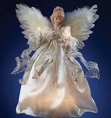 lighted angel christmas decoration angel tree toppers lighted angel tree topper ivory gold 10 lights