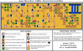 Super Mario World Map by Super Mario Bros 3 World 2 Overworld Map For Nes By Keyblade999