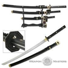 Samurai Kitchen Knives Pc Samurai Katana Sword Set