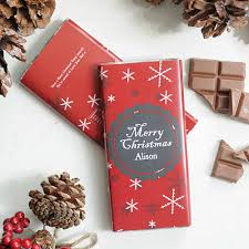 christmas chocolate personalised christmas chocolate bar snowflakes i just it