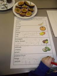 handas surprise fruit recording sheet use as teacher led task for