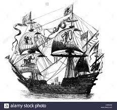 transport transportation war ships spanish galleon copper