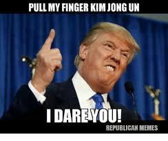 Un Meme - pull my finger kim jong un i dare you republican memes kim jong