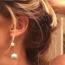 sided earrings pearl sided dangle earrings candy