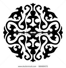 traditional ornaments central asia vector pattern stock vector