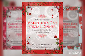 valentines flyer template s day dinner for two flyer flyer templates creative