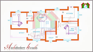 Floor Plans For Home Decor Two Bedroom Small Kerala House Plans For Small Home Design