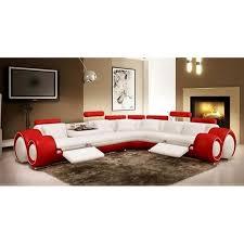 canape design cuir canapé d angle design en cuir blanc et relax achat vente