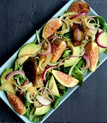 cuisine schmidt dijon fig avocado salad with dijon balsamic vinaigrette whole