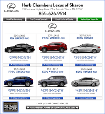 lexus lease residuals herb chambers lexus of sharon boston lexus dealers automile norwood