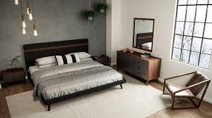 Charcoal Gray Bedroom Set Domus Dali Mid Century Grey U0026 Walnut Bedroom Set