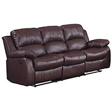 How To Disassemble Recliner Sofa Homelegance Reclining Sofa Brown Bonded