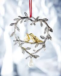 michael aram two turtle doves ornament