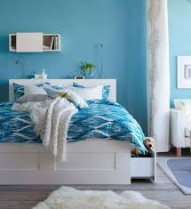 simple cool blue bedrooms for girls large vinyl in design inspiration