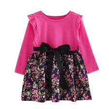 new years bow tie new year baby dress winter autumn kids sleeve clothes floral