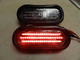 led tail lights for a trailer 1 pair clear red 6 oval led 60 diode tail light w grommet plug