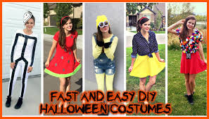 diy halloween costumes super easy cheap last minute ideas