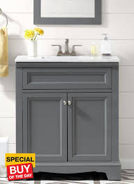 30 Inch Media Cabinet Accanto Contemporary 30 Inch Grey Finish Bathroom Vanity Marble