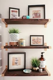 Ikea Shelves Bathroom Hack It Walnut And Gold Shelves A Kailo Chic