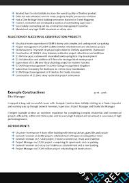 Construction Job Resume by Writers Resume Best Free Resume Collection