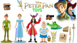peter pan toy set with captain hook u0026 tinker bell youtube