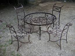 outdoor iron table and chairs wrought iron garden furniture blacksmith linkov
