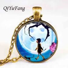 antique necklace chains images Anime movie coraline necklace coraline pendant necklace chain jpg