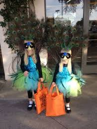 Halloween Peacock Costume Minute Homemade Sister Skeletons Halloween Costumes