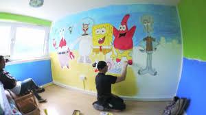 spongebob bedroom spongebob squarepants time lapse bedroom art by david yarnell