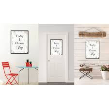 home interiors and gifts framed today i choose saying canvas print picture frame home decor
