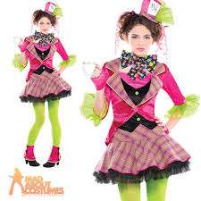 teen mad hatter costume girls alice tea party halloween kids fancy