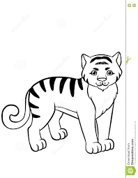 coloring pages animals little cute tiger stock vector image