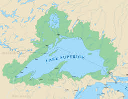 Michigan Map Outline by Lake Superior Michigan Sea Grant