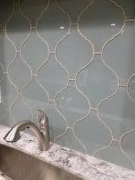 Arabesque Backsplash Tile by Dentelle Series Heavenly Lagoon Dtl3005 Arabesque Arabesque