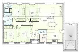 plan de maison 4 chambres plain pied plan maison 4 chambres top maison