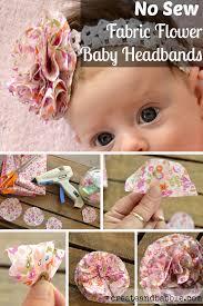 fabric flower baby headbands fabric flowers fabrics and flower