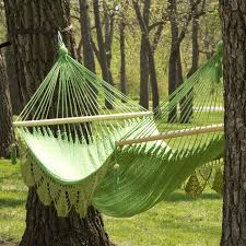 large grand caribbean nicaraguan double hammock with spreader bar