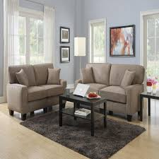 sofas loveseats living room furniture the home depot rta martinique dominica earth espresso polyester loveseat
