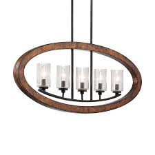 shop kichler grand bank 36 in w 5 light auburn distressed black