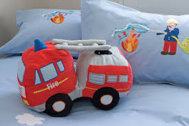 kas kids hero u0027s fire truck shaped cushion amazon co uk kitchen