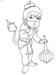 kesarinandan bal hanuman coloring page kids website for parents