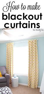 Easy Blackout Curtains How To Make Blackout Curtains Diy Curtains Craft And Crafty